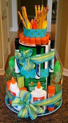 School Supply Cake diy-crafts
