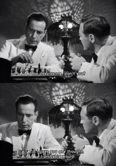 Casablanca, Humphrey Bogart and Peter Lorre