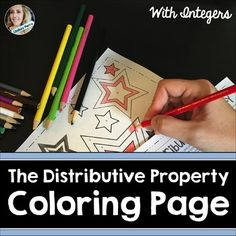 About this resource : This distributive property resource contains notes and a coloring page.What is included? * A two page scaffolded worksheet that includes notes, examples, guided practice and independent practice using the distributive property. * A coloring activity that allows the student to using the distributive property and combining like terms.