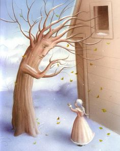 .Beautiful whimsical artwork. Trees <3