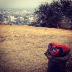 "one of my ""LOVE ROCKS"", an on-going installation project.  this one was in Runyon Canyon in Los Angeles"