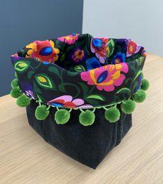 Reclaimed denim Storage Basket £11.00 Fabric Storage Baskets, Beautiful Gifts, Black Denim, Gifts For Friends, Floral, Crafts, Manualidades, Flowers, Handmade Crafts