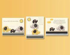 Elephant Nursery Print // Baby Elephant Nursery // by DesignByMaya, $50.00