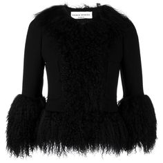 Sonia Rykiel cropped fur jacket (9,385 MYR) ❤ liked on Polyvore featuring outerwear, jackets, black, sonia rykiel, sonia rykiel jacket, cropped fur jacket, fur jacket and cropped jacket
