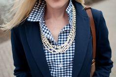 gingham & pearls