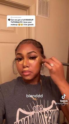 Makeup For Black Skin, Black Girl Makeup, Girls Makeup, Contour Makeup, Flawless Makeup, Eyebrow Makeup Tips, Contouring, Dope Makeup, Baddie Makeup