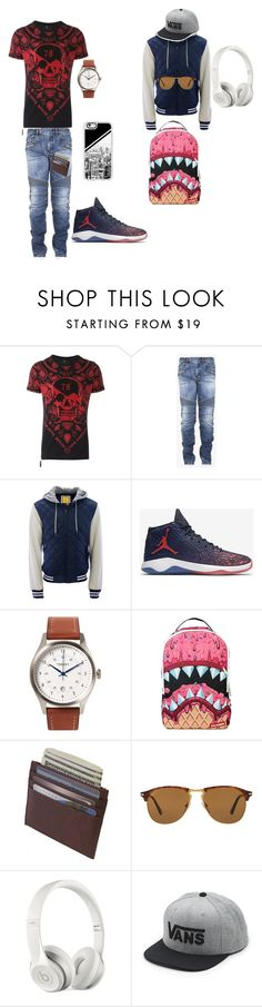 """create with my brother"" by missp0pc0rn ❤ liked on Polyvore featuring Philipp Plein, Balmain, Aéropostale, NIKE, Tsovet, Sprayground, Persol, Beats by Dr. Dre, Vans and Casetify"