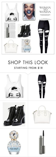"""Bez naslova #33"" by neiracilovic-i ❤ liked on Polyvore featuring WithChic, Givenchy, Balmain, Marc Jacobs and MAC Cosmetics"