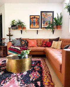 Bohemian Latest And Stylish Home decor Design And Life Style Ideas - living - Apartment Decor Boho Living Room, Cozy Living Rooms, Home And Living, Small Living, Apartment Living, Modern Living, Cozy Eclectic Living Room, Retro Living Rooms, Colourful Living Room