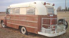 vintage bus conversion   ... Chevrolet Series 3800 1 ton school bus RV conversion left rear view