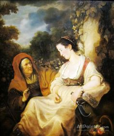 Ferdinand Bol,Vertumnus And Pomona oil painting reproductions for sale