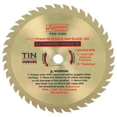 7-1/4 in. 40T Plywood Circular Saw Blade With TIN Coating Only: $14.99
