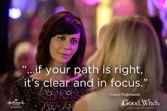 """Need some inspiration? Get insightful quotes from Cassie Nightingale, from the Hallmark Channel original series, """"Good Witch. The Good Witch Series, Witch Tv Series, Aesthetic Words, Witch Aesthetic, Insightful Quotes, Inspirational Quotes, Hallmark Good Witch, Practical Magic Quotes, Witch Quotes"""
