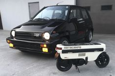 There's a no reserve auction for this 1985 Honda City Turbo II w/Motocompo Scooter currently live on BaT! The Honda Motocompo scooter… Ford Lightning, Scooters For Sale, Honda City, Honda Motors, Classic Cars Online, Jdm Cars, Rear Seat, Custom Cars, Cool Cars
