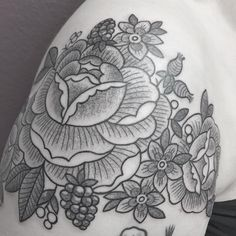 #flower #tattoo #line #black #newtraditional #rose #neotraditionel neo traditionel #illustration #draw #drawing #ink #inked