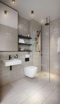 64 Adorable Bathroom Tile Design Ideas And Decor bathroom tile ideas, bathroom decoration, moder bathroom design, small bathroom ideas Bathroom Tile Designs, Modern Bathroom Decor, Modern Bathroom Design, Bathroom Interior Design, Minimalist Bathroom Design, Toilet And Bathroom Design, Contemporary Bathrooms, Small Bathroom With Bath, Bathroom Colours