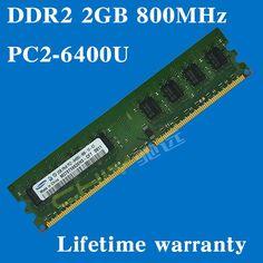 Desktop memory Lifetime warranty For samsung DDR2 2GB 800MHz PC2-6400U 800 DDR 2 2G