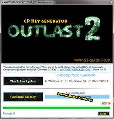 Outlast 2 CD Key Generator 2016 Full Game