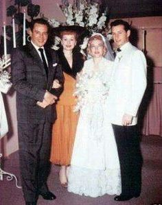 Lucille Ball and Desi Arnaz at her brother Fred's wedding,