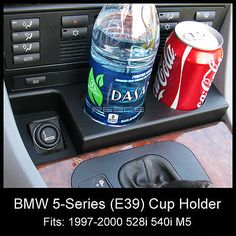2000 528i bmw headlights blacked out   1997-2000 BMW 528i 540i M5 E39 FRONT CUP HOLDER (BRAND NEW) ADD-ON ...