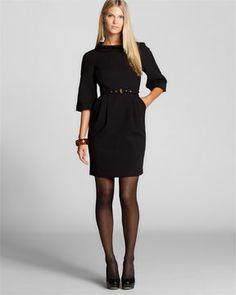 MICHAEL Michael Kors Black Belted Dress