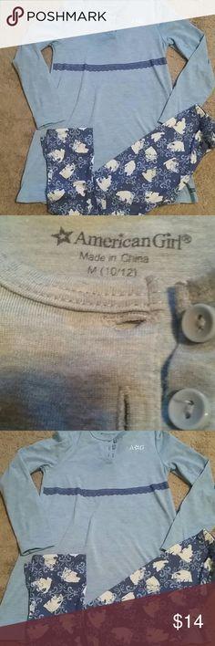 AMERICAN GIRL PAJAMA SET size 10/12 Great condition . Long sleeve pantsand top amercan girl Pajamas Pajama Sets