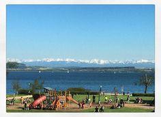 #lake #playground #alps #neuchatel #switzerland Alps, Playground, Switzerland, Dolores Park, Marvel, Instagram Posts, Children Playground, Outdoor Playground