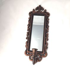 A personal favorite from my Etsy shop https://www.etsy.com/ca/listing/249701104/copper-mirror-lightweight-ornate-copper