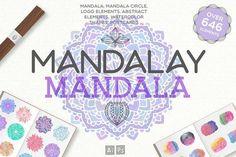 Mandalay Mandala [646 Elements] by Julia Dreams on @creativemarket