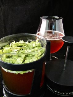 French Press Beer!  Grow hops and add them to infuse the beer with more flavor.