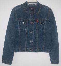 US Polo Assn Distressed Denim Blue Jean Jacket Medium. Fall Fashion