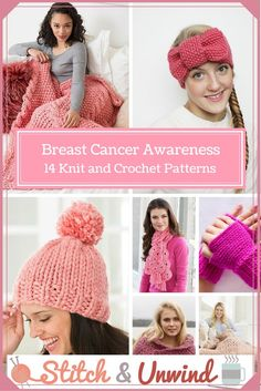 Breast Cancer Awareness Month: 14 #Knit and #Crochet Patterns via @allfreecrochet