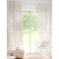 Curtain of raw cotton macramé 105x250 cm |  Maisons du Monde