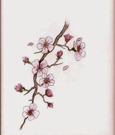 Dibujo de Rama de cerezo para Colorear  Dibujos de Flores para