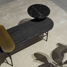 & Tradition Palette Coffee Table JH7 - Black Stained Ash