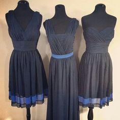 Thin blue line bridesmaid dresses. LEO wedding. http://www.weddingtonway.com/wedding/FB_WW_Find_Perfect_Bridesmaid_Dresses?utm_source=facebook&utm_medium=cpc&utm_campaign=WW_27_WW_WTOO_blue_dresses