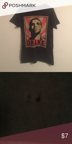 Drake shirt Bought at hot topic. Size small . Has two hole in the Corning from the area I put my earrings. Not extremely noticeable Tops Tees - Short Sleeve