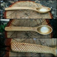 Wicked cool hand carved wooden spoon.