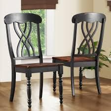 set of 4 wooden black dining chairs - Google Search