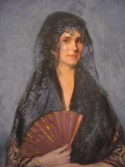 Dama con abanico. Ignacio Zuloaga. Real Academia de Bellas Artes de San Fernando. Madrid. Foto: Mª Victoria Alonso. www.museodelabanico.com