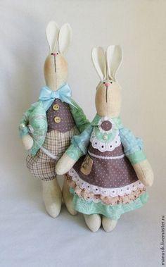 Купить Парочка зайцев. - голубой, зайка, зайчик, зайцы, зайка тильда, пара, парочка
