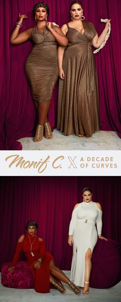 Celebrate a decade of curves with the limited anniversary collection from Monif C. Iconic styles, remixed and remastered for you.