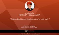 Warto odwiedzić stronę szkolenia, o którym mowa: KobietaNiezalezna.pl