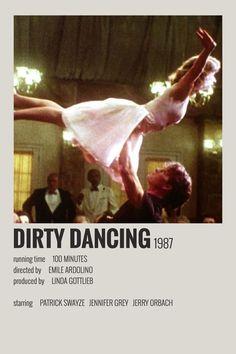 Alternative Minimalist Movie/Show Polaroid Poster - Dirty Dancing - Entertainment interests Iconic Movie Posters, Minimal Movie Posters, Minimal Poster, Iconic Movies, 80s Movie Posters, Simple Poster, Dirty Dancing, Film Polaroid, Polaroids