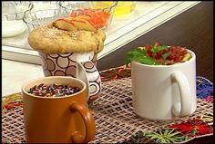 Bolo de Maçã - Bolo Salgado - Pudim de Chocolate ( na caneca)