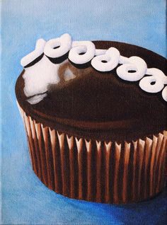 Cupcake Art Print featuring the painting Hostess by Andrea Nally Hostess Cupcakes, Very Nice Pic, Cupcake Art, Thing 1, Small Paintings, All Print, Fine Art America, Giclee Print, Fine Art Prints