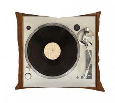 Almofada Toca-Discos - 100% Poliéster - 45 cm x 45 cm