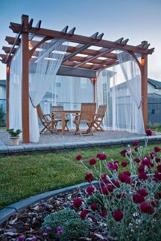 A pergola gives a secluded region and shade in the summertime. A pergola is something which will fall in that category. Then pergola is a superb choice. There's nothing quite like a gorgeous, modern-day pergola in order to add value… Continue Reading → Building A Pergola, Pergola Canopy, Outdoor Pergola, Wooden Pergola, Backyard Pergola, Backyard Landscaping, Outdoor Decor, Pergola Roof, Pergola With Curtains