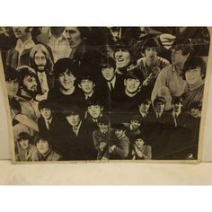 Vintage Beatles Poster Circa 1960 ($90) ❤ liked on Polyvore featuring home, home decor, wall art, vintage home decor, vintage posters, beatles poster, apple home decor and vintage wall art