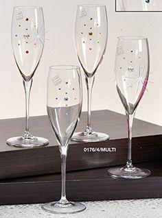 Italian Collection Glassware, Decorated with Swarovski Cr...